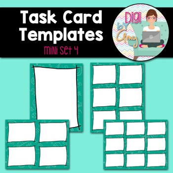Task Card Templates Clip Art MINI SET 4