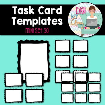 Task Card Templates Clip Art MINI SET 30