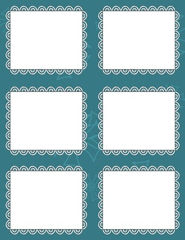 Task Card Templates Clip Art MINI SET 31