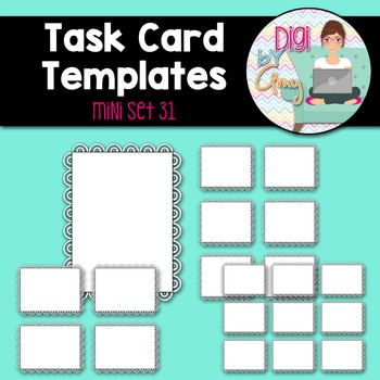 Task Card Templates clipart - MINI SET 31