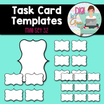Task Card Clip Art Templates - MINI SET 32
