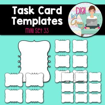 Task Card Templates clipart - MINI SET 33