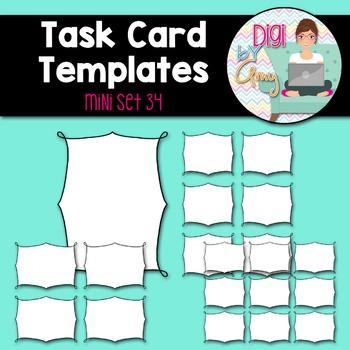 Task Card Templates Clip Art MINI SET 34