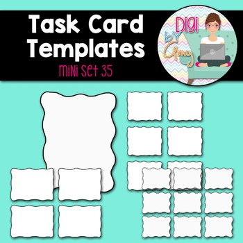 Task Card Templates Clip Art MINI SET 35