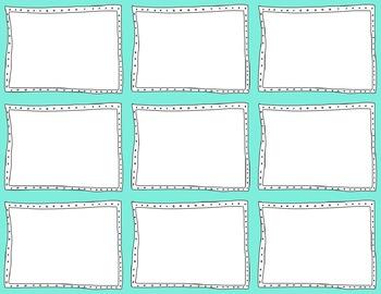Task Card Templates Clip Art MINI SET 36