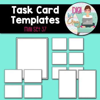 Task Card Templates Clip Art MINI SET 37