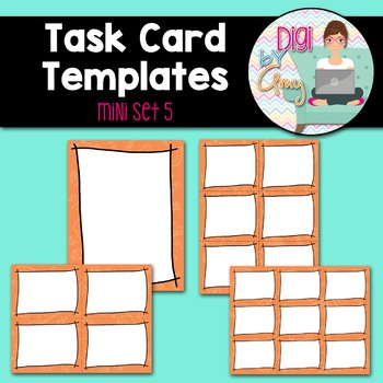 Task Card Templates Clip Art MINI SET 5