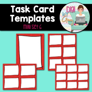 Task Card Templates Clip Art MINI SET 6