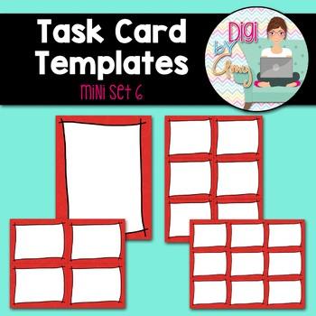 Task Card Templates Clip Art MINI SET 6