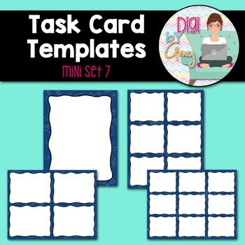 Task Card Templates Clip Art MINI SET 7
