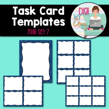 Task Card Templates Clip Art MINI SET 7