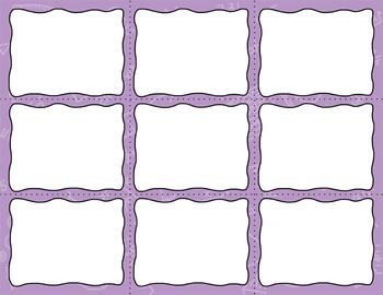 Task Card Templates Clip Art MINI SET 8