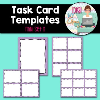 Task Card Templates clipart - MINI SET 8