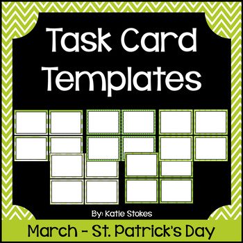 Task Card Templates - March & St. Patrick's Day