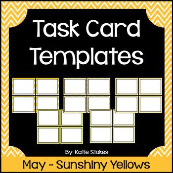 Task Card Templates - May & Sunshiny Yellows