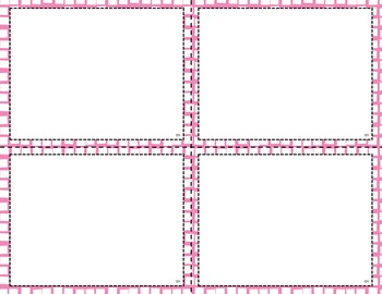 Task Card Templates - Pinks and Purples