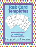 Task Card Templates :  Distance Learning