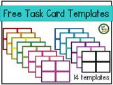 Task Card Templates - Rainbow colors