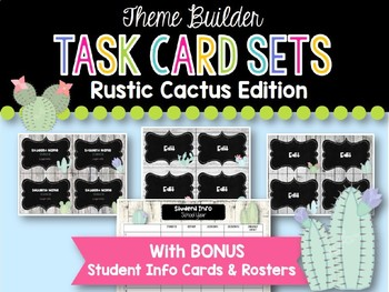 Task Card Templates: Rustic Cactus Edition