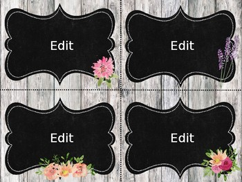 Task Card Templates: Rustic Floral Edition