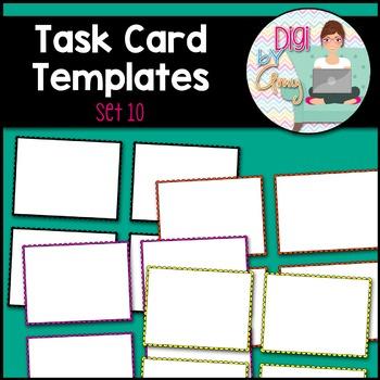 Task Card Templates clipart - SET 10