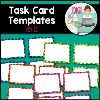 Task Card Templates Clip Art SET 11