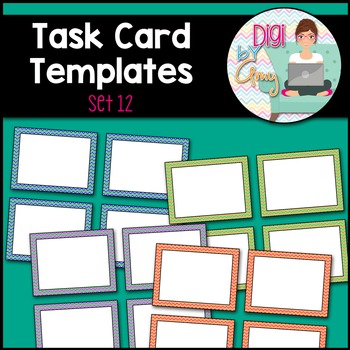 Task Card Templates Clip Art SET 12