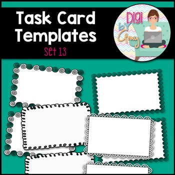 Task Card Templates Clip Art SET 13