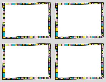Task Card Clip Art Templates - SET 14