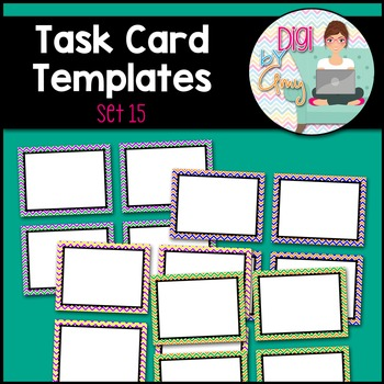 Task Card Clip Art Templates - SET 15