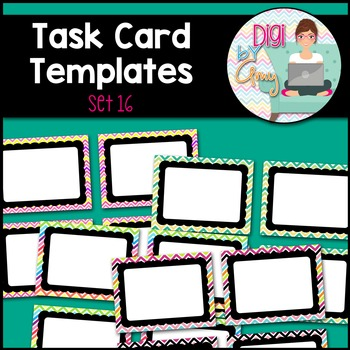 Task Card Clip Art Templates - SET 16