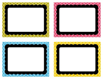 Task Card Clip Art Templates SET 17