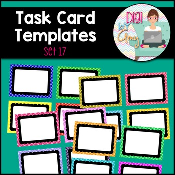 Task Card Templates clipart - SET 17
