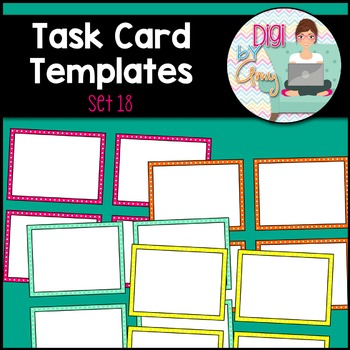 Task Card Templates Clip Art SET 18