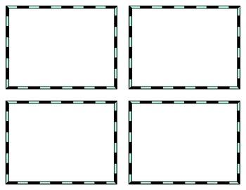 Task Card Templates Clip Art Templates SET 19