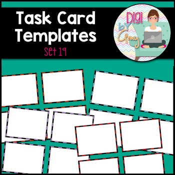 Task Card Templates Clip Art SET 19