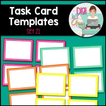Task Card Templates clipart - SET 21