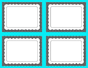 Task Card Templates Clip Art SET 20 Black and White version