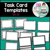 Task Card Templates Clip Art SET 20 Black and White version