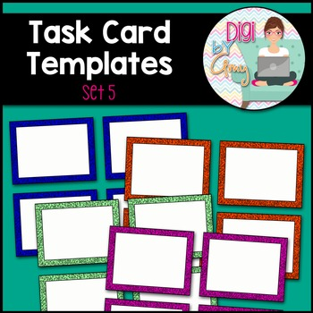 Task Card Templates Clip Art - SET 5