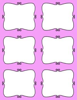 Task Card Templates Clip Art - SET 6