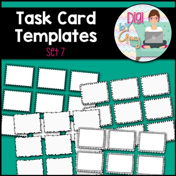 Task Card Templates Clip Art SET 7