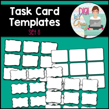 Task Card Templates clipart - SET 8