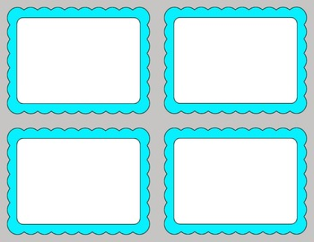 Task Card Templates Clip Art SET 9