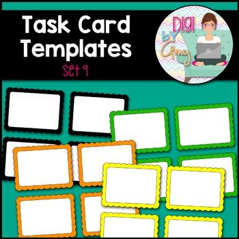 Task Card Templates clipart - SET 9