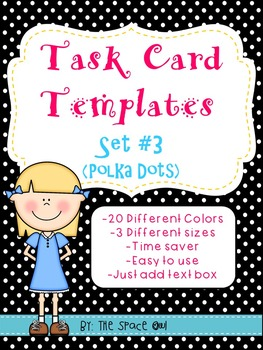 Task Card Templates Set #3