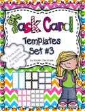 Task Card Templates Set #3- Workstation/ Classroom Decor
