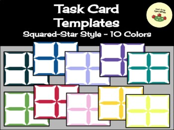 Bargain Task Card Templates - Squared Star Style