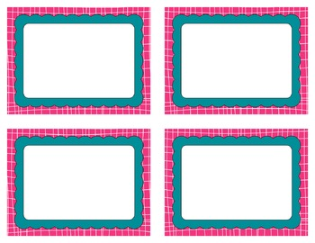 Task Card Clip Art Templates - Summer