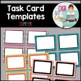Task Card Templates Clip Art Summer